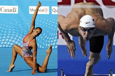Gemma Mengual and Michael Phelps